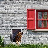 Ideal Pet Products Designer Series Ruff-Weather Pet Door Wall Installation Kit, Super Large, 15' x 23.5' Flap Size, Grey (DSRWSLWK)
