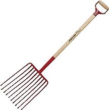 Fiskars Aardappelvork met 10 tanden, lengte: 126 cm, knoestvrij essenhout/staal, rood, Classic, 1003693