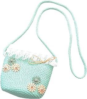 CherriGumi Valuable Handmade Rattan Woven Shoulder Bags PU Leather Straps Bow Hasp Holiday Beach Crossbody Bag Messengers Handbag