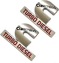 2pcs (small size) Cummins Turbo Diesel Emblems,3D Badge High Output Replacement for RAM 2500 3500 Fender Emblems