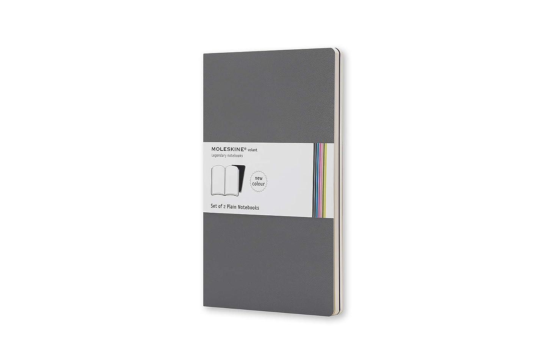 モレスキン ノートブック ヴォラン2冊セット 無地 ポケットサイズ ペインズグレー QP713G