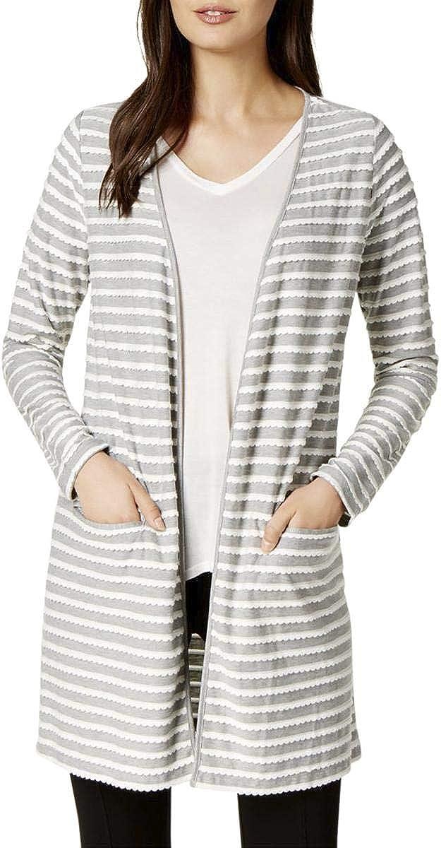 Maison Jules Womens Open-Front Cardigan Sweater