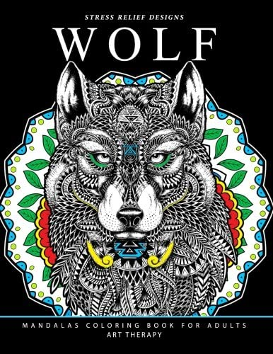 Wolf Mandalas Coloring Book for Adults Wolf and Mandala Pattern for Relaxation and Mindfulness product image