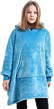 Oversized Hoodie Deken Kinderen, Draagbare Sherpa Hoodie Sweatshirt Deken, Deken Hoodie Scandinavische Stijl Tieners, Supe...