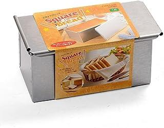 タイガークラウン パン型 シルバー 95×190×95mm スクエアブレッド型 1斤 スチール アルミメッキ スライド蓋 2383