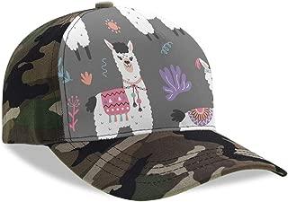 Cartoon Elk Moose Pattern Adjustable Baseball Cap Men Women Camouflage Hat