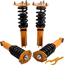 Coilovers Suspension Kits with Non-Adjustable Damper for Mitsubishi 3000GT/GTO/3000GT-VR4 (FWD) 1991-1999, Dodge Stealth 1991-1996 - Gold