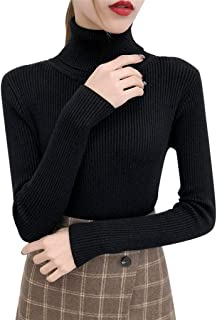 Forthery Autumn Winter Women Long Sleeve Sweater Pullover Turtleneck Basic Sweaters 2019 Korean Style Knitted Tops