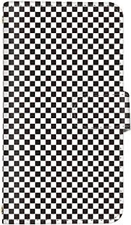 スマ通 Xperia Z5 Premium SO-03H 国内生産 ミラー スマホケース 手帳型 SONY ソニー エクスペリア ゼットファイブ プレミアム 【1-ブラック×ホワイト】 チェック柄 チェック q0001-c0030