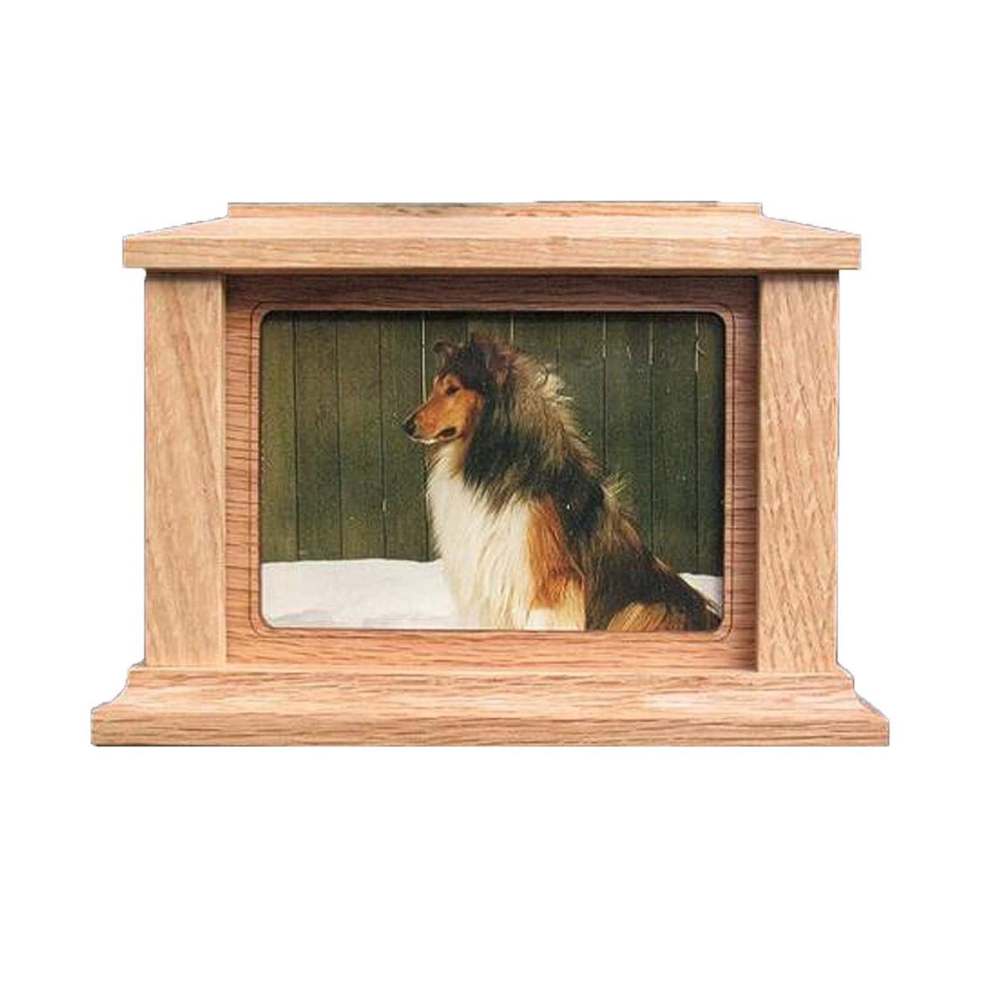 ラッカス知り合いちらつきXIAN ペットウルン、ペットのための排泄物、機能的なウルーン、アフリカのソリッドウッド、環境にやさしいウルーン、防湿、封印された小型の犬と猫の記念碑 Find Peace With This Lovely Dog Or Cat Pet Cremation Urn
