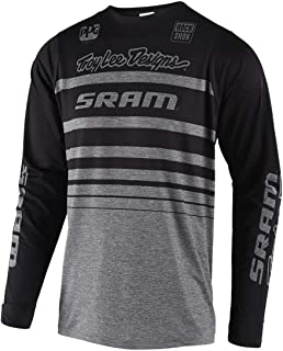 Troy Lee Designs Skyline L/S Streamline Sram Men's Off-Road BMX Cycling Jersey - Heather Gray/Small