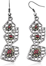ZigiLine Unique Style Dangle Earrings Made with Swarovski Crystals