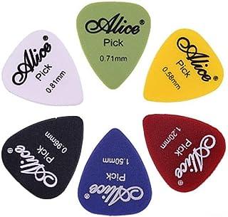 Astropick - Boîte de 40 médiators pour guitare électrique, acoustique, basse, ou folk - 6 épaisseurs : 0.58/0.71/0.81/0.9...