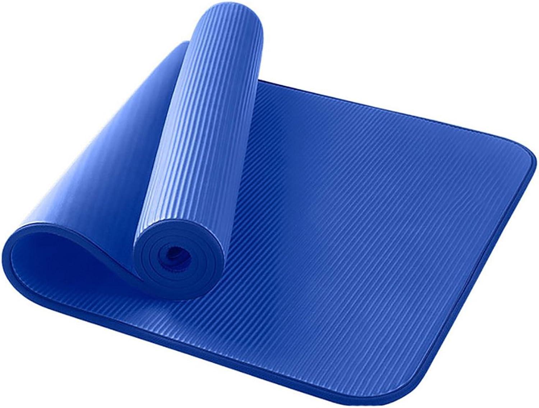Yoga-Matte   Anti-Rutsch-Sport-Matten   Plus Thick Fitness-Matte im Freien   Indoor Dance Mat   185  80cm ( Farbe   Blau )