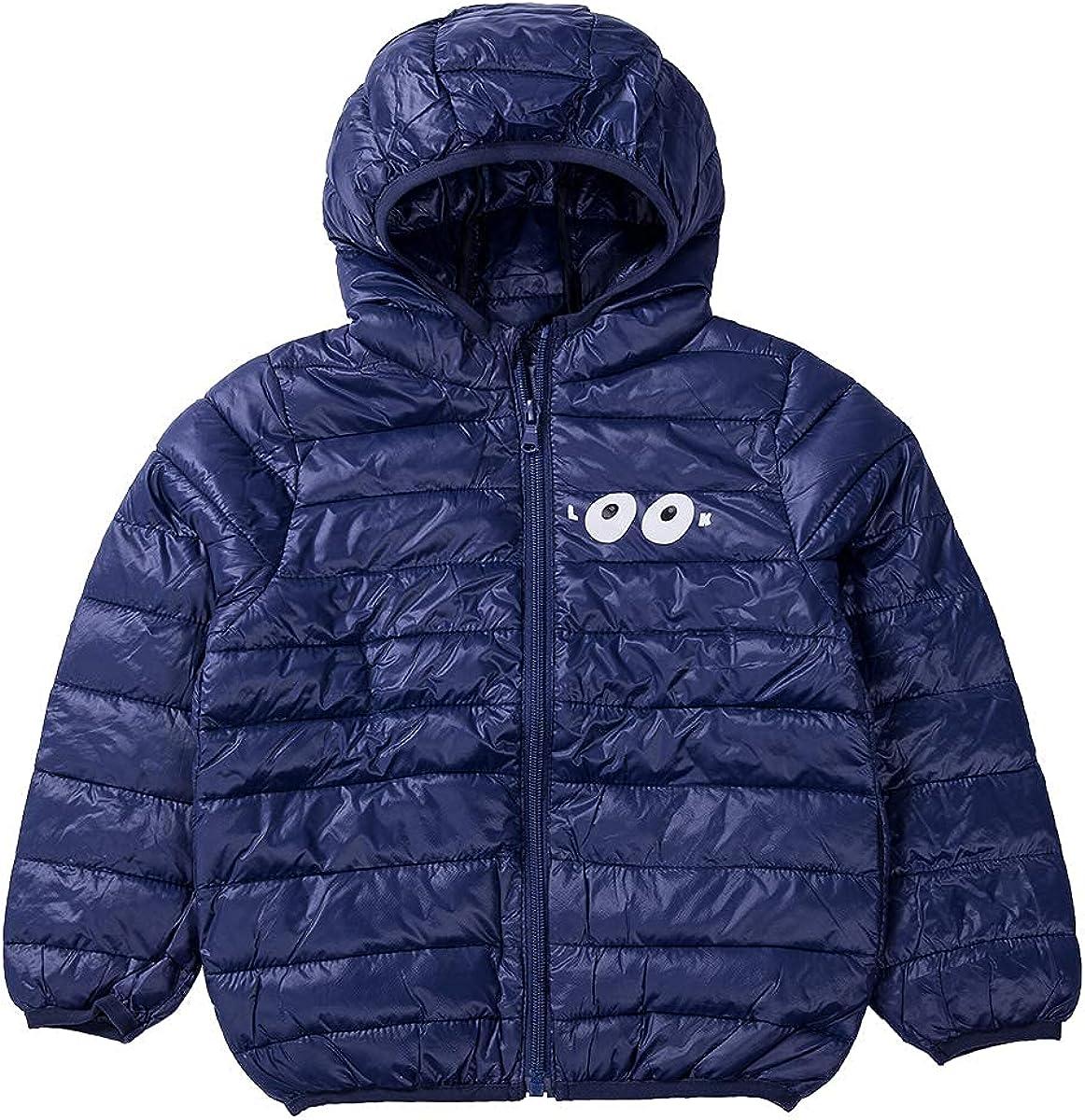 Dallas Mall Tababobyto Kids Max 83% OFF Boy Girl Hooded Coat L Color Solid Print Cartoon