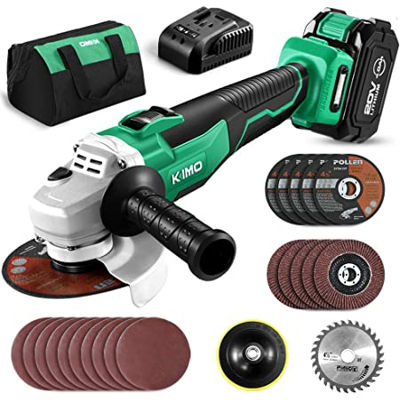 """20V Cordless Angle Grinder 4-1//2/"""" 9000RPM w// 4.0Ah Lithium-Ion Battery /& Charger"""