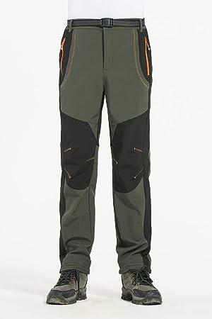 CAMLAKEE Pantalones de Trekking Escalada Impermeable Hombre