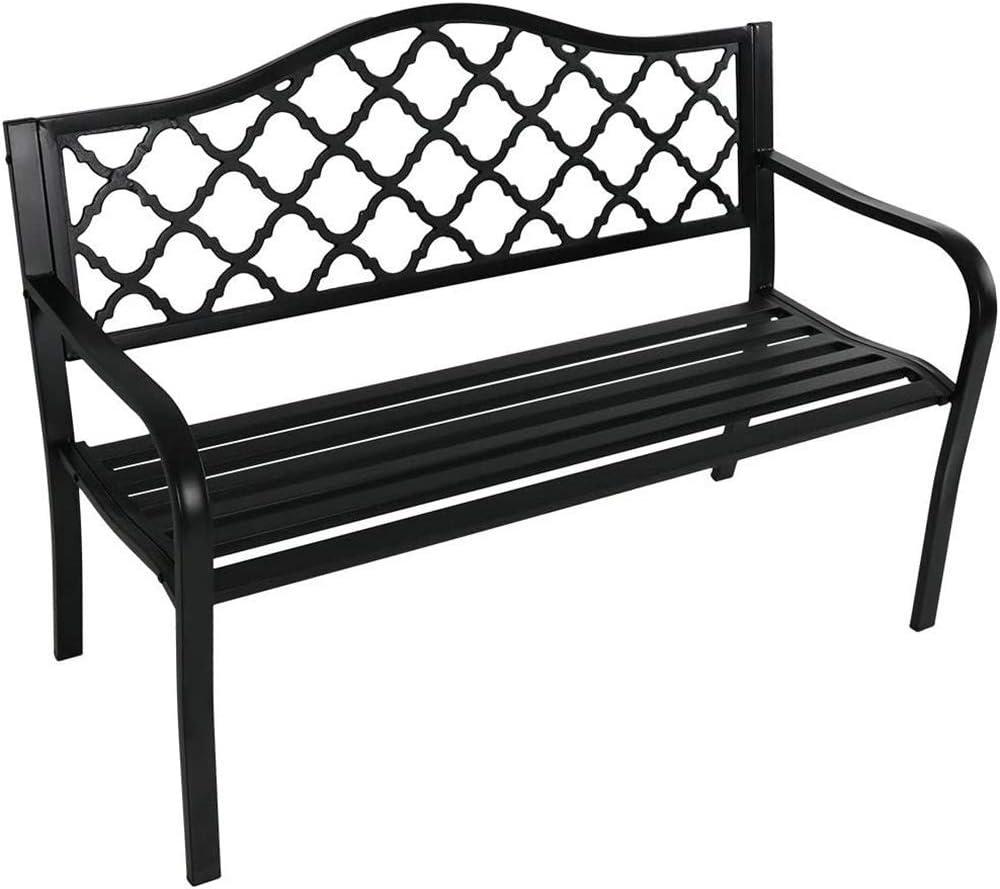 Max 79% OFF Outdoor Max 82% OFF Metal Park Bench Furniture Porch Garden
