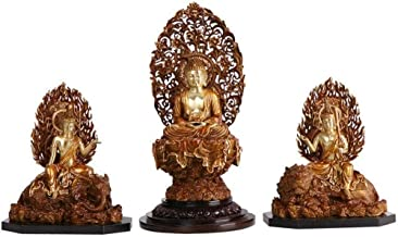 Meditation Buddha Statue Figurine,Sitting Buddha Sculpture for Home Decor,Meditating Buddha Peace Harmony Statue Three Sai...