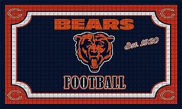Team Sports America 41EM3805 Embossed Door Mat, Chicago Bears