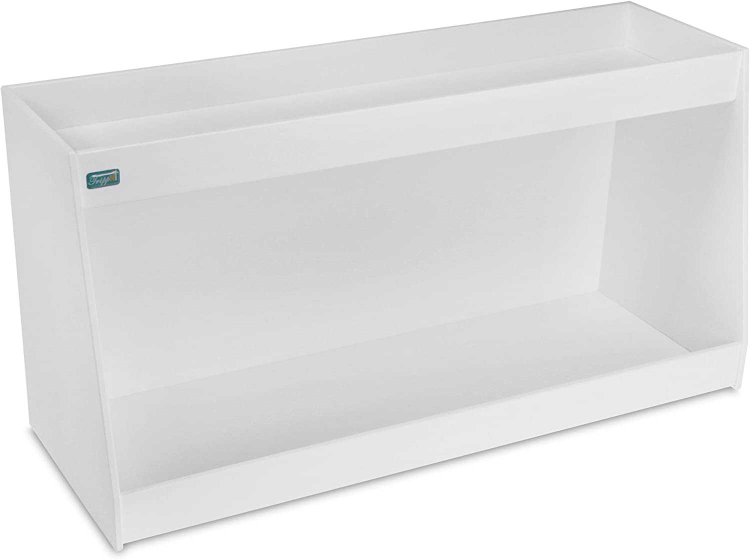 TrippNT 50223 PVC Angled Double Safety Shelves, 24-Inch Width x 12-Inch Height x 9-Inch Depth, White