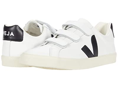 VEJA 3-Lock (Logo Leather Extra White/Black) Men