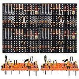 Froadp Murs de Trous d'outils Étagère Murale avec Boites de Rangement Combinaison et Crochets Mixtes Panneau pour Atelier Petites Pièces(Type C, 100x66cm)