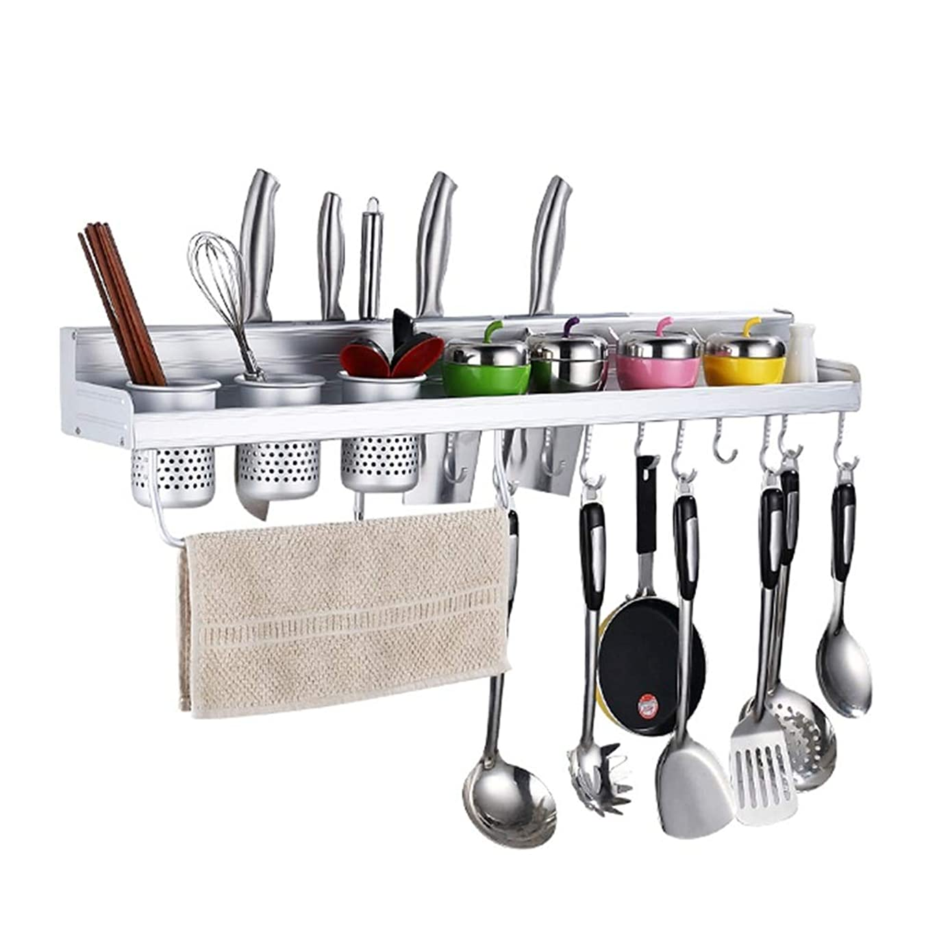 Kitchenware Space management One-piece Tray Wall-mounted Integrated Space management Knife Holder One-piece Supplies Space management Tray Spice Tray Kitchen Widening Easy to install Space management