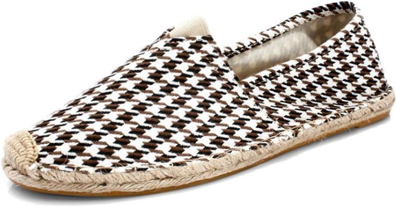BeautyOriginal Woman Linen Canvas Lazy Fisherman Flat shoes