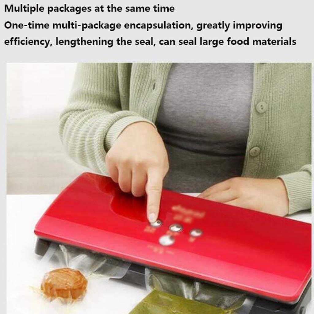 Yppss Nourriture Vide Scellant Machine d'emballage Automatique en Plastique avec et Sec Nourriture Humide for la Cuisine Conservation des Aliments Eternal (Color : Red) White