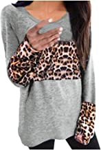 Women O-neck Long Sleeve Tops, Ladies Leopard Print Splice O-neck T-shirt Blouse Pullover Tops