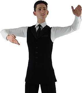 MDV04 Mens Long Dance Vest with Satin Lapel
