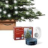 Nordmanntanne + Lichter + Amazon Echo Dot + Smart Steckdose