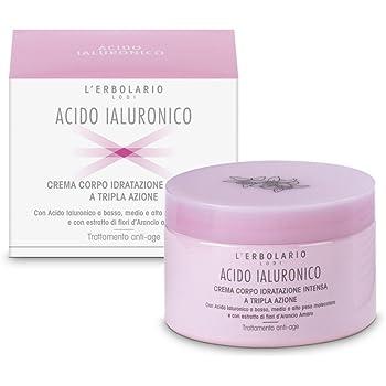L'Erbolario, Crema Corpo Idratante Acido Ialuronico, Trattamento Anti-age, 200 ml