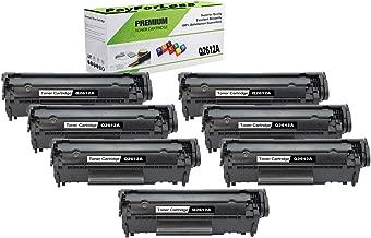 PayForLess Compatible 12A Q2612A Toner Cartridge 7PK Black for HP Laserjet 1010 1012 1015 1018 1020 1022 3015 3020 3030 3050 3050Z 3052 3055 M1005MFP M1319MFP Printers