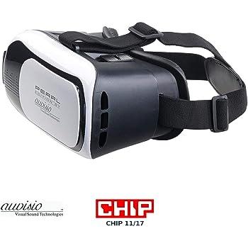 auvisio Videobrille: Virtual-Reality-Brille VRB58.3D für Smartphones, 3D-Justierung (Handybrille)