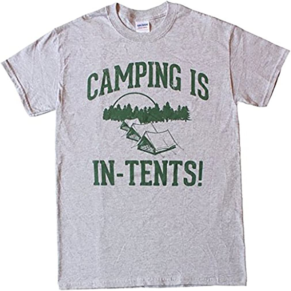 Camping is in Tents New Free Popular brand in the world Shipping - Cotton Funny Mens Intense T-Shirt