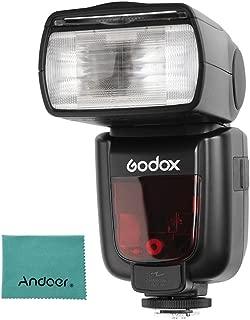 Godox Thinklite TT685°F TTL kamera flaşı Speedlite GN602.4G Telsiz aktarım için Fuji X-T2X-T1X-T1X-T1X-T1X-E1X-A3X100°F X100T kamerası Andoer temizleme bezi ile