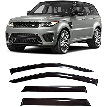 4pcs Dark Smoke Out-Channel Rain Guards Land Rover Range Rover Sport 2014-2016