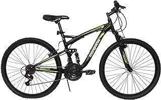 Mongoose Bicicleta Status R26, color Negro/Verde