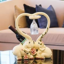 XHHZI Beautifully Decorated Wine Cooler Decoration Wine Rack Elephant Ornaments Creative Practical European Living Room En...