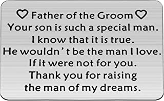 Father of The Groom Gifts Father in Law Gift from Bride Thank You for Raising The Man of My Dreams Thank You Wedding Gift for Father of The Groom