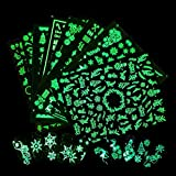 3D Christmas Nail Art Stickers Xmas Nail...
