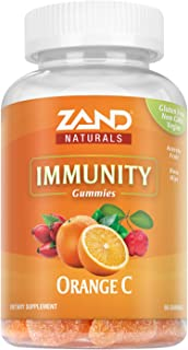 Zand Orange C Gummies | Immune Support for Adults & Kids with Vitamin C, Acerola & Rose Hips | 60ct, 30 Serv.
