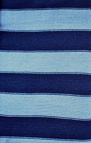 REIFF Babydecke Wickeltuch Merinowolldecke Pucktuch Schurwolle Ringel Bio Öko kbT, Gr. 80x90 cm, marine/hellblau