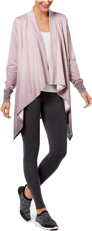 Ideology Womens Dip-Dye Yoga Cardigan
