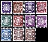 Goldhahn DDR Dienstmarken Nr. 2, 3, 7, 9-11, 13-17 postfrisch ** Briefmarken für Sammler