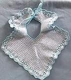 babero crochet ganchillo hecho a mano