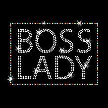 Boss Lady Iron on Rhinestone Transfers for T-Shirts by JCS Rhinestones