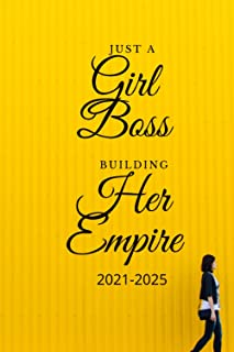 Just a girl boss building her empire: 5 years monthly planner, 5 years calendar, notes,